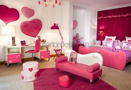 розовая мебель в квартире