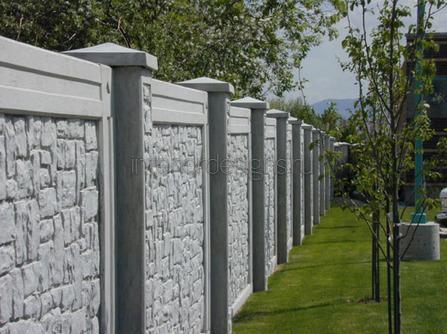 бетонные изгороди в саду