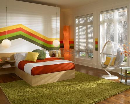красочное оформление комнаты
