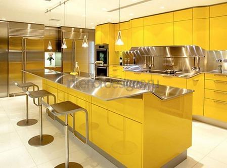 желтый цвет в оформлении помещений