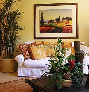 озеленение гостиной