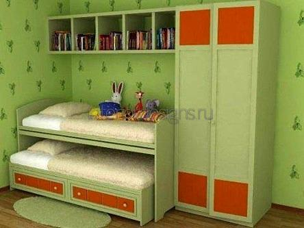 оформление комнаты двойняшек