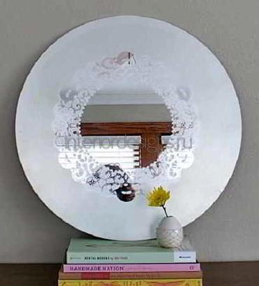 декорирование зеркал салфетками