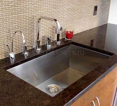 функциональный интерьер кухни в квартире