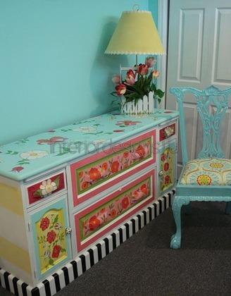 оригинальный декор мебели своими руками