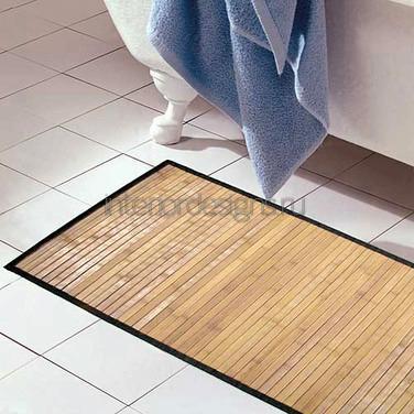 бамбуковый настил на кафельную плитку