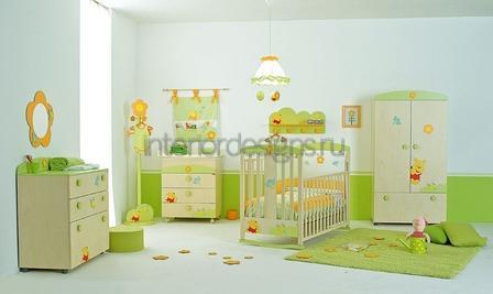 салатовый цвет в помещении