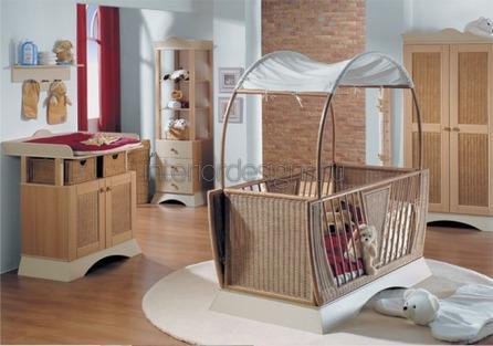 обустройство интерьера детской для новорожденного