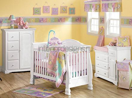 расстановка мебели в комнате малыша