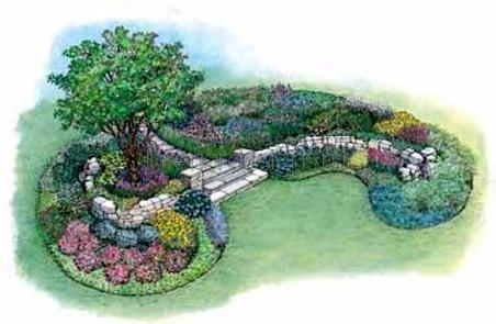 пример эскиза ландшафтного дизайна
