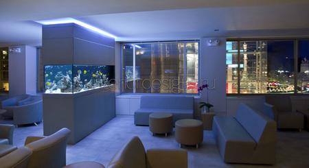 аквариум в комнате отдыха