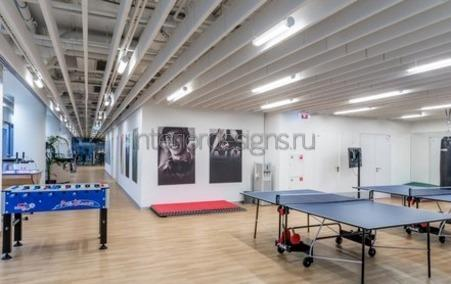 спортивная зона в рабочем кабинете