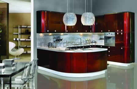 совмещенный дизайн кухни-столовой