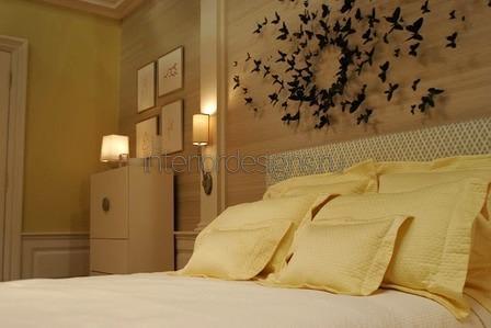 спальня в бежевом цвете