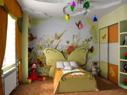 изголовье кровати в виде бабочки