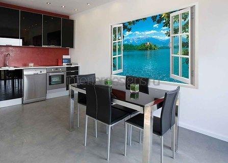 красивые фотообои в интерьере кухни
