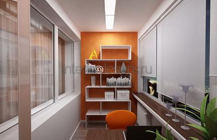 уютный дизайн маленького кабинета