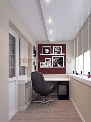 оформление дизайна маленького кабинета
