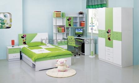 подростковая комната в светлой гамме