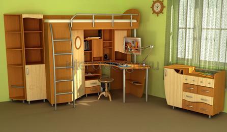 универсальные детские мебельные гарнитуры