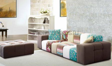 разноцветный диван