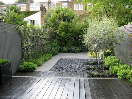 сад в стиле минимализм