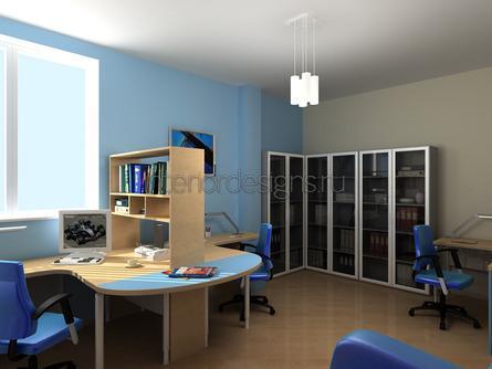 уютный дизайн маленького офиса