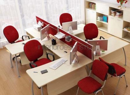расстановка мебели в маленьком кабинете