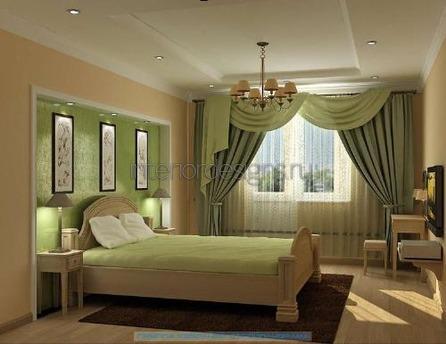 оформление помещения в зеленом цвете