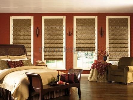 оригинальный дизайн штор в спальне