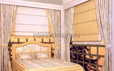 красивые шторы в дизайне спальни