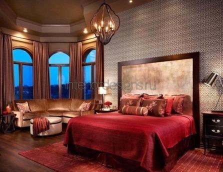 спальная комната в классическом стиле