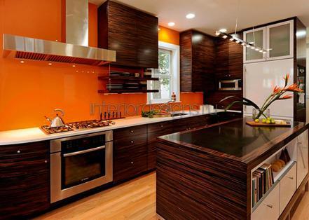 кухонный остров из дерева