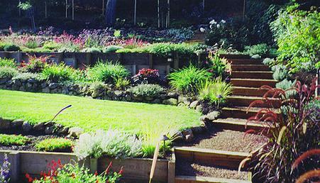 террасы на садовом участке