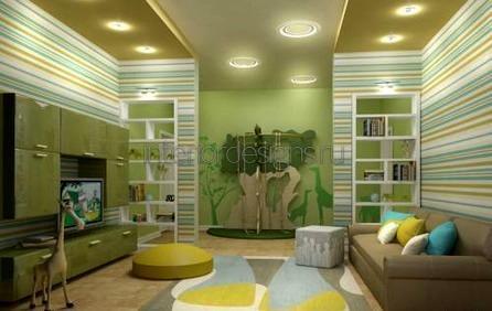 зеленый цвет в оформлении комнаты