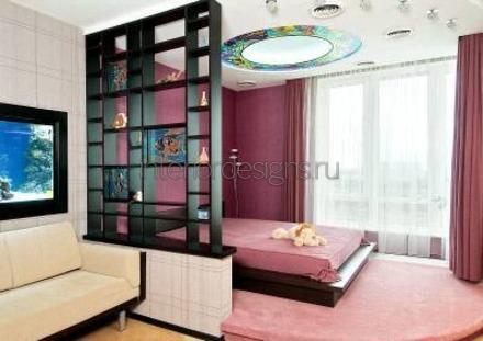 декоративный стеллаж в квартире