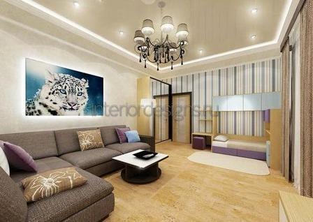 потолочное освещение в гостиной
