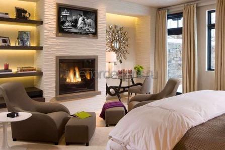 уютная зона отдыха в комнате