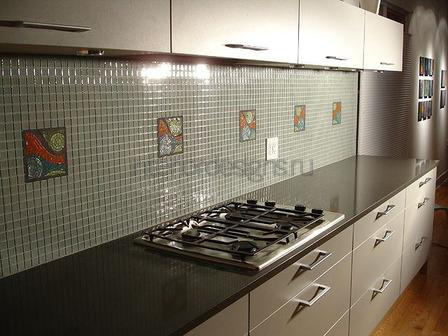 красивый дизайн стен на кухне