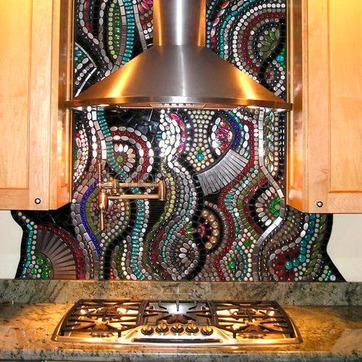 дизайн стен кухни – фото