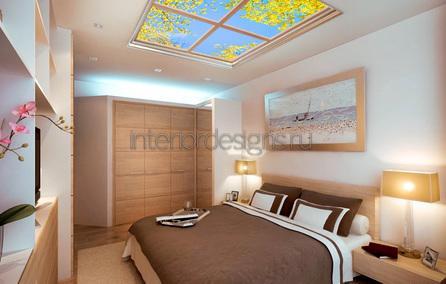 уютный дизайн спальни без окна