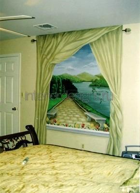 украшение комнаты тюлем