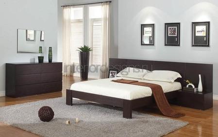 темная мебель в дизайне спальни