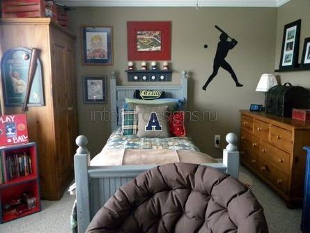 оформление комнаты в спортивной тематике