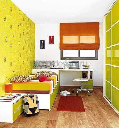 лимонный цвет в комнате тинэйджера