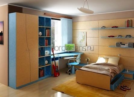 простое оформление комнаты юноши