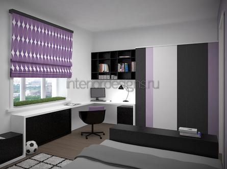 римские шторы фиолетового оттенка
