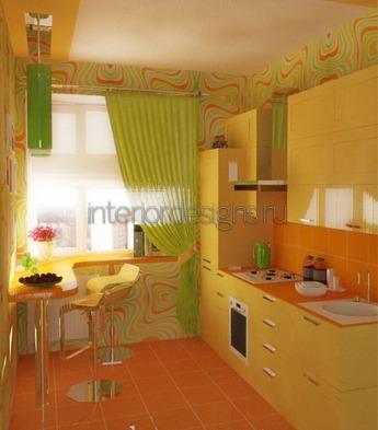 желтая мебель с глянцевой поверхностью