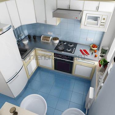 уютный интерьер малогабаритной кухни