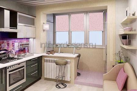 интерьер малогабаритной кухни с фото